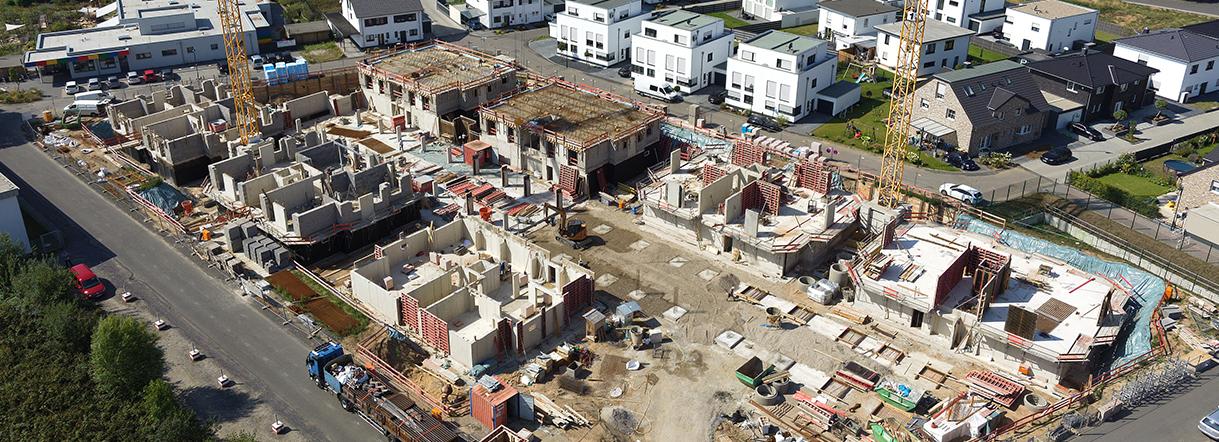 Neubau von 8 Mehrfamilienwohnhäusern mit Tiefgarage